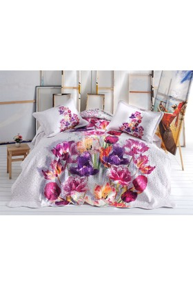 İpekçe Yatak Örtüsü Çift Kişilik Tulip 3D