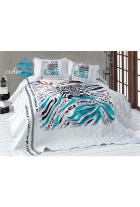 İpekçe Yatak Örtüsü Çift Kişilik Zebra 3D
