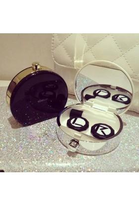Eyekan Parfüm Şişesi Şeklinde Lens Kutusu (Siyah)