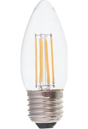 Pelsan Maxin 4W Buji Filament Led Ampul E27 3000K