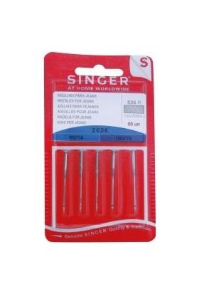 Singer 2026 Kot Dikiş İğnesi 5 Adet (Paket)