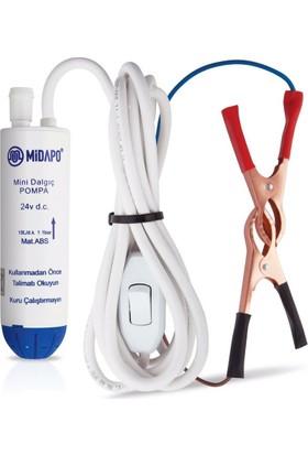 Midapo 24 Volt 1/2 Mini Dalgıc Pompa(Mazot,Su Yada Süt Pompası )