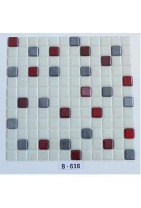 Mcm Mutfak Tezgah Arası Kristal Cam Mozaik B616 - 25 x 25
