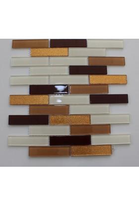 May Mutfak Tezgah Arası Kristal Cam Mozaik M8 - 2,5 x 10