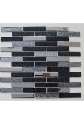 Mcm Mutfak Tezgah Arası Kristal Cam Mozaik Mp916 - 20 x 98