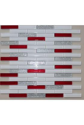 Mcm Mutfak Tezgah Arası Kristal Cam Mozaik Mp918 - 15 x 73