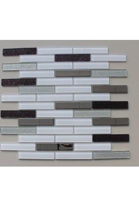 Mcm Mutfak Tezgah Arası Kristal Cam Mozaik Mp919 - 20 x 98