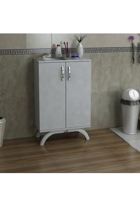 Kalender Dekor Bonita Çok Amaçlı Banyo Dolabı (Beyaz)