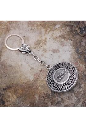 Sümer Telkari Telkari İşlemeli Gümüş Anahtarlık 45