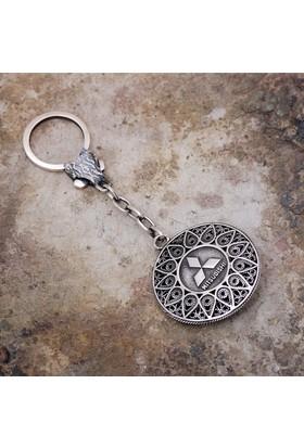 Sümer Telkari Telkari İşlemeli Gümüş Anahtarlık 53