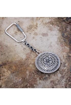 Sümer Telkari Telkari İşlemeli Gümüş Anahtarlık 61