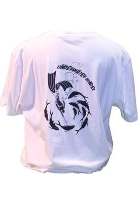 Kraken Hunter Avcı Beyaz T-Shirt