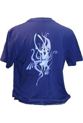 Kraken Trıbal Avcı Lacivert T-Shirt