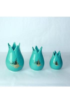 Seramik Lale Vazo Takımı