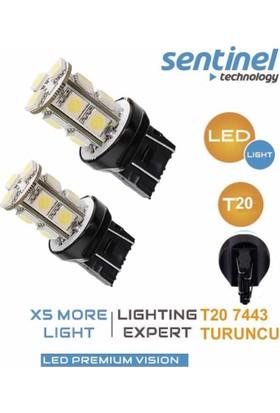 T20 COB Led Teknolojisi 13 Led Turuncu 12v Takım T2013A