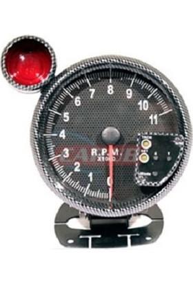 Takometre R.P.M (DEVİR) 5 İnch Carbon Desenli 4663061