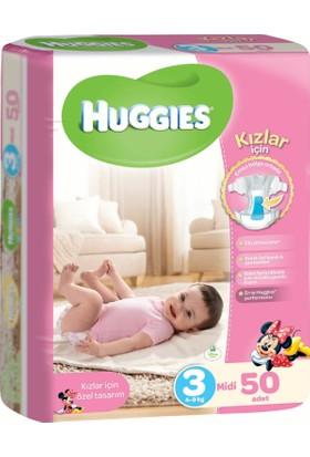 Huggies Kızım İçin Bebek Bezi Jumbo Paket 3 Beden 50 Adet