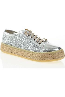 Nemesis Shoes Casual Ayakkabı Gümüş Deri