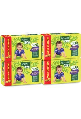 Komili Bebe Bebek Bezi 4+ Beden 4'lü Mega Paket 168 Adet