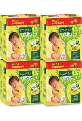 Komili Bebe Bebek Bezi 2 Beden 4'lü Mega Paket 312 Adet