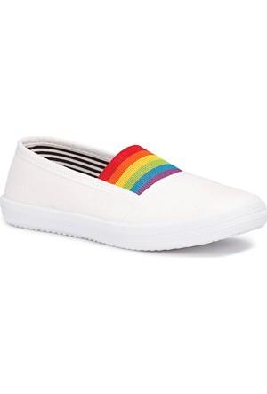Polaris 71.509219.P Beyaz Kız Çocuk Basic Sandalet