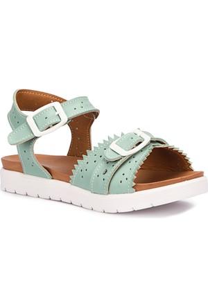 Polaris 71.509143.F Yeşil Kız Çocuk Sandalet