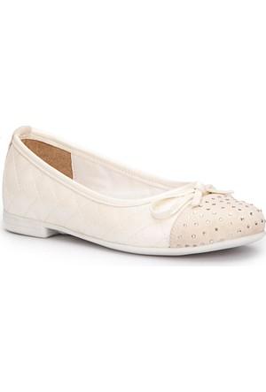 Pink Step Adrin-1 Beyaz Kız Çocuk Babet