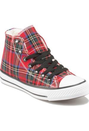 Jj-Stiller D113 Kırmızı Kadın Sneaker Ayakkabı