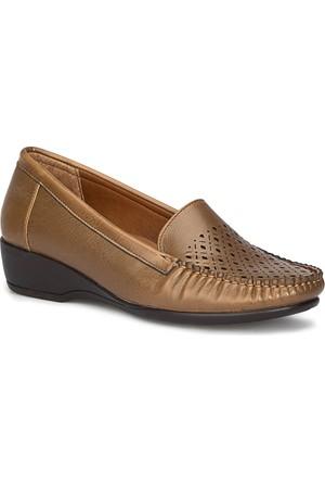 Polaris 71.157281.Z Taba Kadın Loafer Ayakkabı