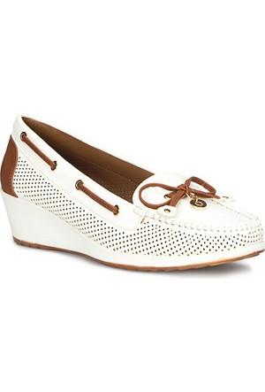 Polaris 71.157258.Z Beyaz Kadın Loafer Ayakkabı