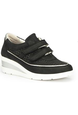 Polaris 71.109755.Z Siyah Kadın Dolgu Topuk Ayakkabı
