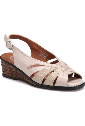 Polaris 5 Nokta 71.109727.Z Bej Kadın Dolgu Topuk Ayakkabı