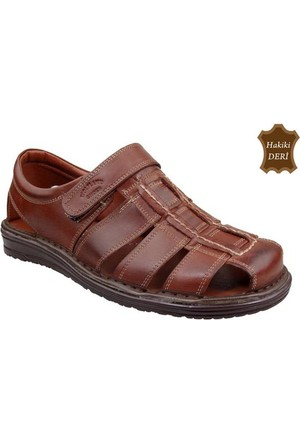 Wolfland 206 SA 31 Hakiki Deri Sandalet