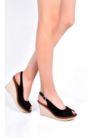 Sapin 25936 Kadın Sandalet Siyah
