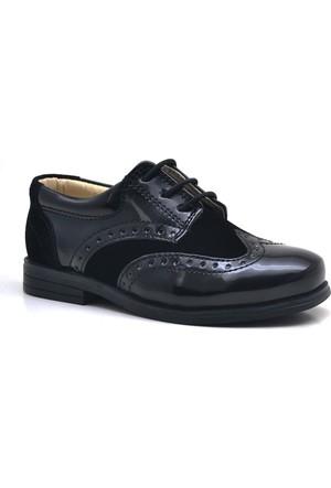Raker® Siyah Rugan Klasik Erkek Bebek Ayakkabısı
