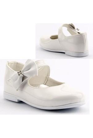 Sema 22 Günlük Abiye Cırtlı Kemerli Tokalı Kız Çocuk Babet Ayakkabı