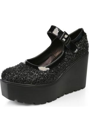 Tibu 101 Siyah Pullu-Rugan Ayakkabı
