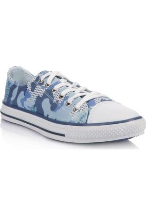 DeFacto Erkek Çocuk Kamuflaj Ayakkabı Mavi