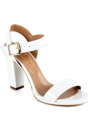 Sapin 25620 Kadın Topuklu Sandalet Beyaz
