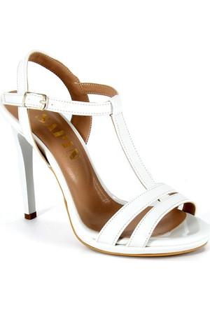 Sapin 25622 Kadın Topuklu Sandalet Beyaz