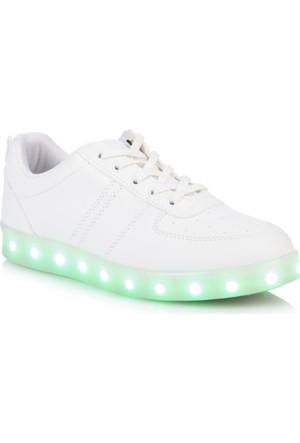 DeFacto Kız Çocuk Led Işıklı Ayakkabı Beyaz