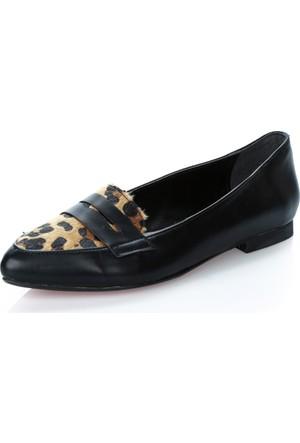 Atılım 1074 Siyah Leopar Rugan Ayakkabı