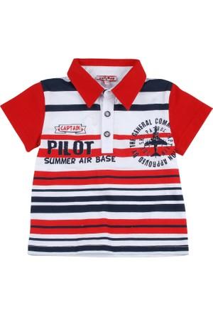 Zeyland Erkek Çocuk Kirmizi Cizgili T-Shirt K-31Z661nep51
