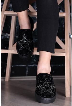 Kırmızı Pabuç Taşlı Ayakkabı 20 - Siyah