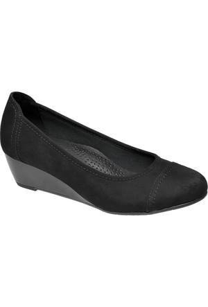 Deichmann Easy Street Kadın Dolgu Topuk Ayakkabı Siyah