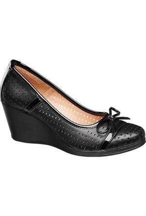 Deichmann Easy Street Kadın Siyah Dolgu Topuk Ayakkabı