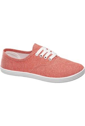Deichmann Vty Kadın Somon Rengi Keten Sneaker Ayakkabı