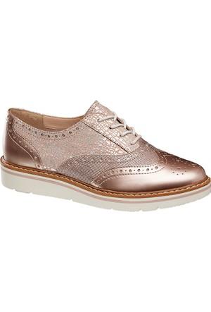 Deichmann Catwalk Kadın Bronz Oxford Ayakkabı Vizon