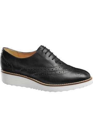 Deichmann 5Th Avenue Kadın Oxford Ayakkabı Siyah
