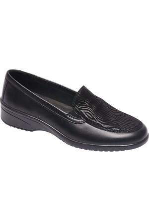Medicus Kadın Bağcıksız Ayakkabı Siyah